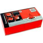 Fasana Serviette 3-lagig 33x33cm Nr. 217741 orange PA= 250Stk