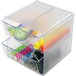 Deflect-o Organisationsbox Cube 350301 4 Schubfächer glasklar