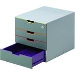 Durable Schubladenbox VARIColor Safe Nr. 7606-27 4 Schubfächer grau/farbig
