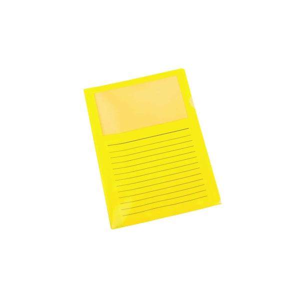 proOffice Sichthülle A4 mit Fenster gelb 11118833-001 PP 10 St. oben/seitl.offen