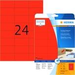 Herma SuperPrint-Etiketten Nr. 4467 rot PA 480 Stück 70x37mm permanent