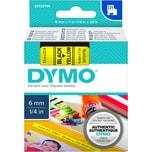 Dymo Schriftbandkassette S0720790 6mmx7m schwarz auf gelb43618 D1