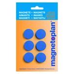 MAG Magnet Discofix Hobby Ø 25mm dunk. blau 16645614 Haftkraft 300g PA 6Stk