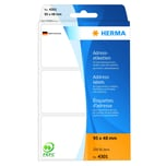 Herma Adress-Etiketten Nr. 4301 weiß PA 250Stk 95x48mm endlos leporello