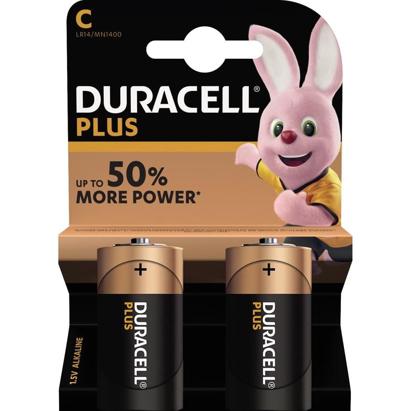 Duracell Batterie Plus Power Baby/C Nr. DUR019089. LR14.1.5V.10.200mAh. 2Stk