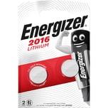 Energizer Knopfzelle Lithium CR2016 Nr. E301021902. 3V. 90mAh PA= 2Stk