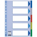 Esselte Register A4 blanko hellblau Nr. 15259 5-teilig PP