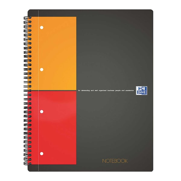 Oxford Collegeblock Notebook Nr. 357001201 A4+ kariert 5mm 80Bl.