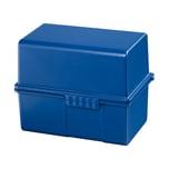 HAN Karteibox Kunststoff A6 quer für 300 Karten blau