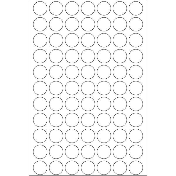 Herma Markierungspunkt 13mm weiß Nr. 2230 PA 2.464 Stück