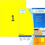 Herma Premium-Etikett Nr. 4401 gelb PA= 100Stk. 210x297mm. Signalcharakter