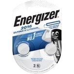 Energizer Knopfzelle CR 2016 Lithium Nr. E301319501. 3V. 90mAh. PA= 2Stk