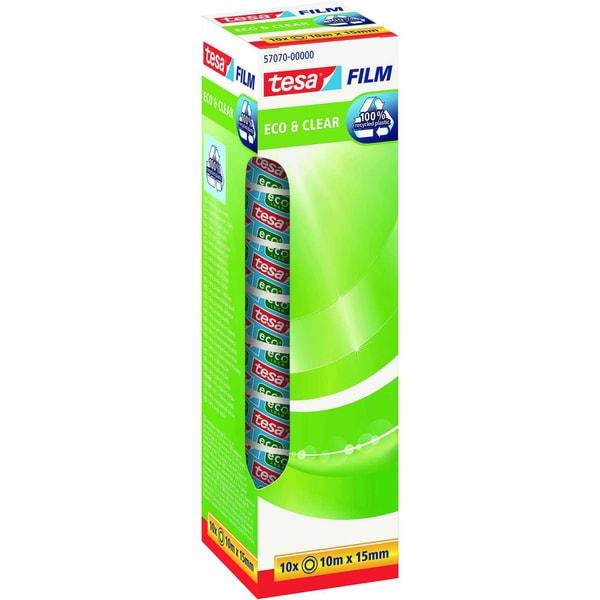 tesa Klebefilm Eco+Clear 15mmx10m Nr. 57070 farblos PA= 10 Rollen