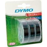Dymo Prägeband S0847730 für 9mmx3m schwarz 3 St./Pack.
