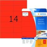 Herma Universaletiketten Nr. 5059 rot PA 280Stk 105x423mm bedruckbar