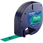 Dymo Schriftbandkassette LetraTag S0721640 12mmx4m schwarz auf grün