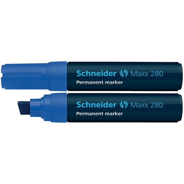 Schneider Permanentmarker Maxx 280 Nr. 128003 blau 4-12mm Keilspitze