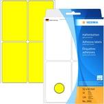 Herma Vielzwecketikett Nr. 2491 gelb PA 128 Stück 52x82mm