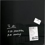 Sigel Glasboard artverum 48x48cm Nr. GL 110. schwarz