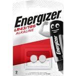 Energizer Knopfzelle LR43/186 Alkali Nr. E301536500. 1.5V. PA= 2Stk