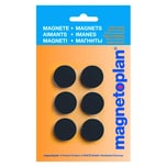 Magnetoplan Magnet Discofix Ø 24mm schw. Nr. 16645612 Haftkraft 300g PA 6Stk