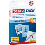 tesa Klebepads Tack transparent lösungsmittelfrei Nr. 59401. PA= 200Stk.. 10x10mm