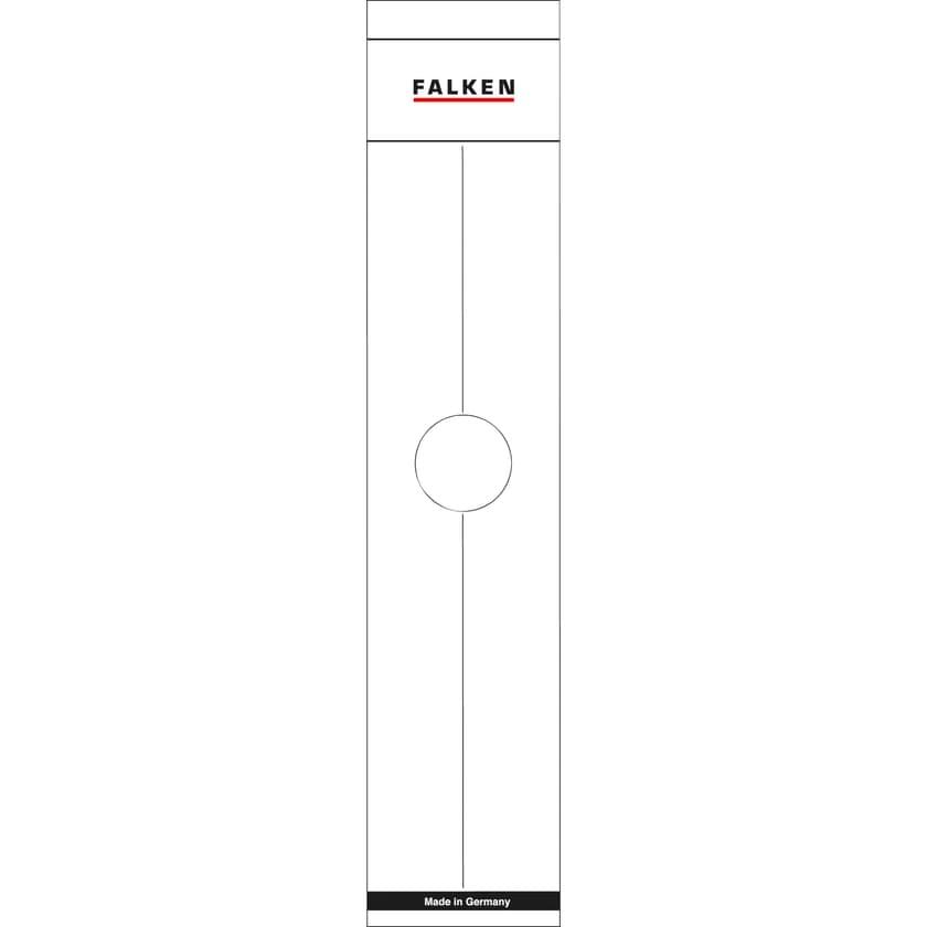 Falken Hängeordner-Rückenschild weiß Nr. 11287067. PA= 10Stk sk breit/lang