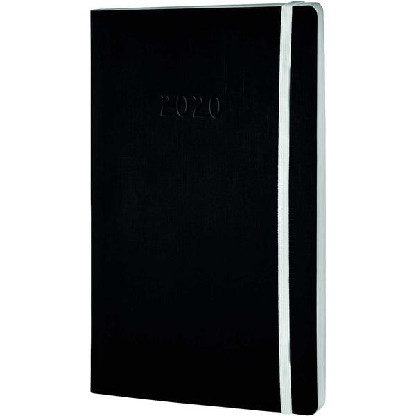 Chronoplan Buchkalender A5 2020 Nr. 50920 1W/2S Softcover Schwarz