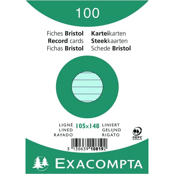 ExacomPTA Karteikarte A6 liniert blau Nr. 10819SE PA 100 Stück