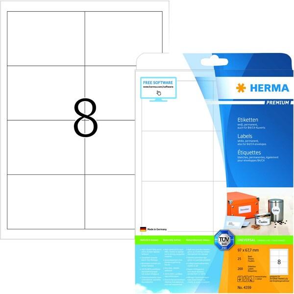 Herma Premium-Etikett Nr. 4359 weiß PA 200 Stück 97x677mm