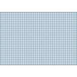 BRUNNEN Karteikarte A6 quer kariert blau Nr. 102260230. PA= 100Stk . 180g