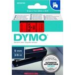 Dymo Schriftbandkassette S0720720 9mmx7m schwarz auf rot40917 D1