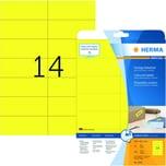 Herma Etikett Nr. 5058 gelb PA 280 Stück 105x423mm bedruckbar