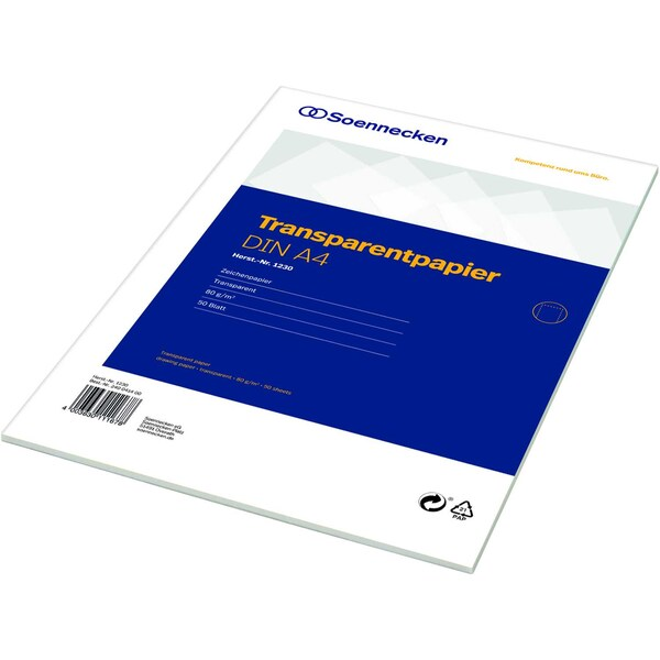 Soennecken Transparentpapier A4 75g 1230 Block 50Bl