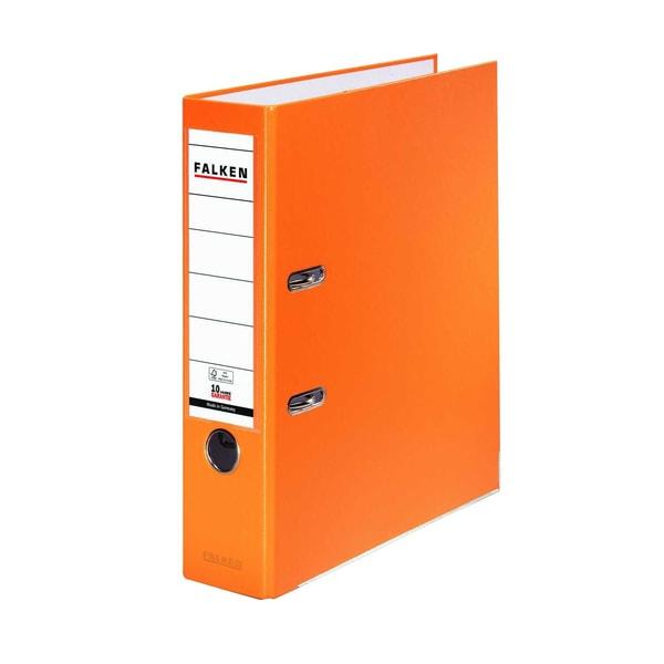 Falken Ordner S80 A4 80mm orange Nr. 11286721 PP mit Wechselfenster