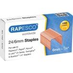 Rapesco Heftklammern 24/6 kupfer Nr. S24600Z3 PA= 1.000 Stück