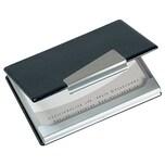 Sigel Visitenkarteetui silber/schwarz Nr. VZ131. für 20 Karten. 90x58mm