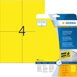 Herma Folien-Etikett Nr. 8032 gelb PA 100Stk 105x148mm bedruckbar