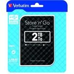 Verbatim Festplatte Store'n'Go 2 TB Nr. 53195 USB 3.0 schwarz