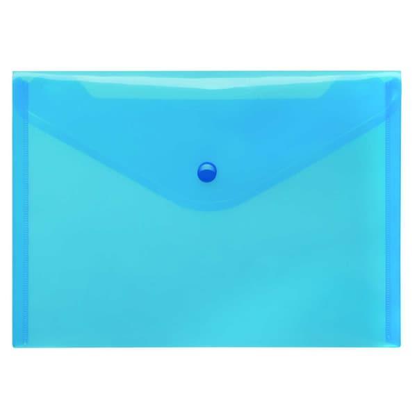 FolderSys Sichttasche A5 quer PP blau Nr. 40912-44 PA 10St PP Druckknopf