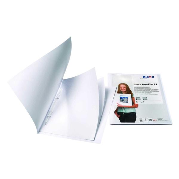 Biella Schnellhefter Pro File 1 weiß Nr. 0164401.01 240g/m² Karton