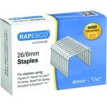 Rapesco Heftklammern 24/6 verzinkt Nr. S24602Z3 PA= 5.000Stk Stahl