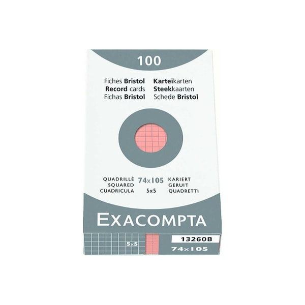 ExacomPTA Karteikarte A7 kariert orange Nr. 13260B PA 100 Stück