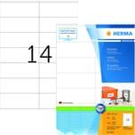 Herma Superprint Etiketten Nr. 4452 weiß PA 1.400Stk 105x42mm permanent
