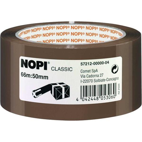 Nopi Packband 50mm x 66m braun Nr. 57212 Reißfestigkeit hoch