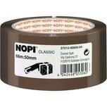 Nopi Packband 50mm x 66m braun Nr. 57212 Reißfestigkeit hoch PP