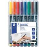 STAED Lumocolor permanent F 8-er Nr. 318 WP8 Universalstift 0.6mm