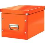 Leitz Archivbox Click & Store Cube A4 Nr. 6108-44 32x36x36cm orange