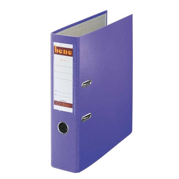 Bene Ordner 80 mm A4 violett PP 291400 VI mit WechselfensterKunststoff