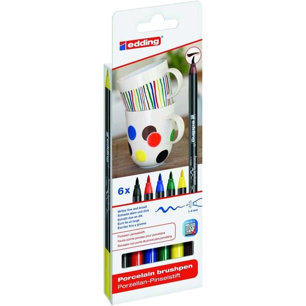 edding 4200/6 S porcelain brushpen family colours